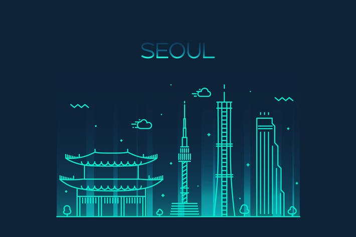 Thumbnail for Seoul skyline, South Korea