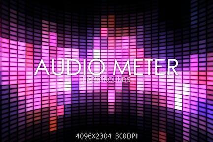 Audio Messgerät-Hintergründe