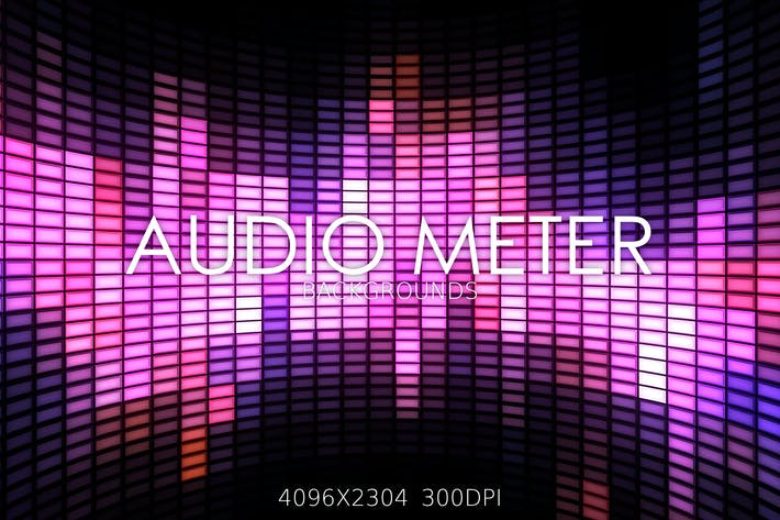 Thumbnail for Audio Meter Backgrounds