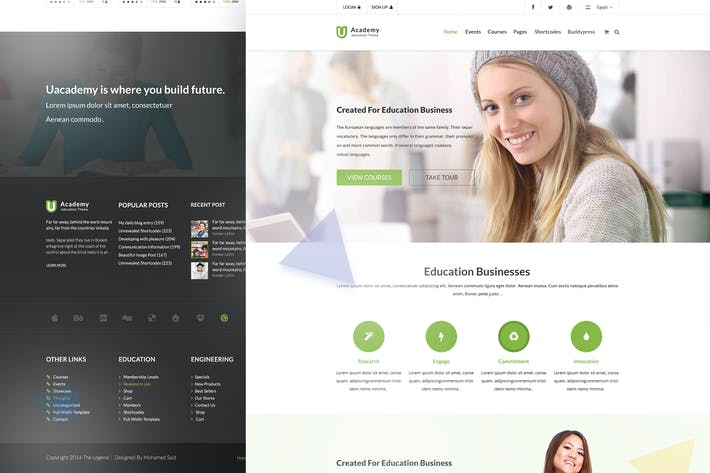 Thumbnail for Uacademy - Learning Management System PSD Template