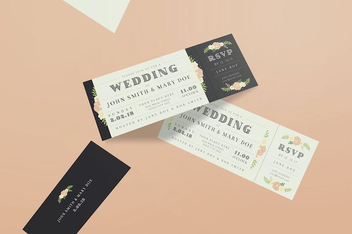 Cover Image For Wedding Invitation Ticket
