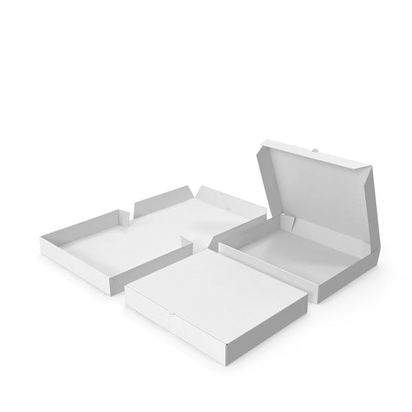 Pizza Boxes White Paper Rectangle