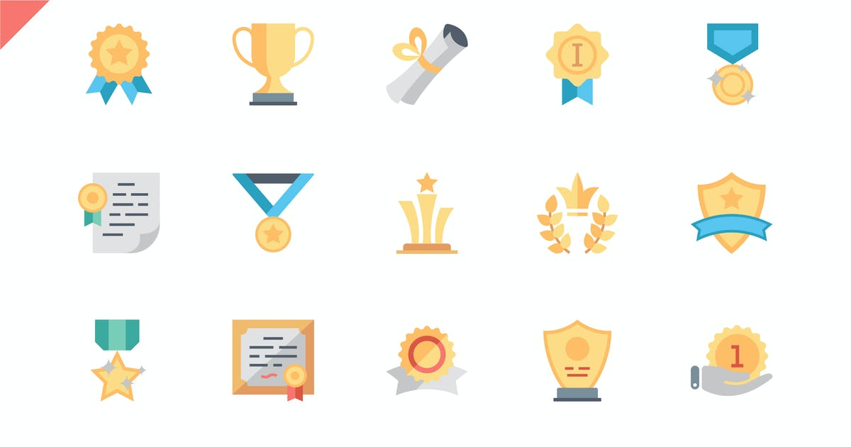 Download Simple Set Awards Flat Icons by Unknow