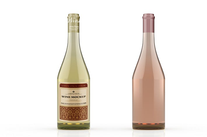 Thumbnail for Wine Bottle Colored Mockup