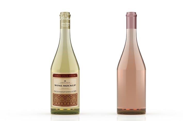 Thumbnail for Bouteille de vin Mockup colorée