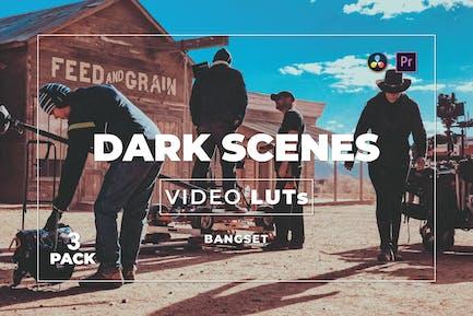 Pack 3 LUTs de vídeo de Bangset Dark Scenes