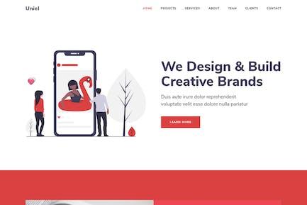 Uniel - Digital Agency HTML5 Responsive Template