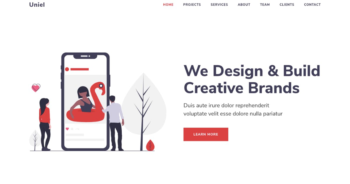 Download Uniel - Digital Agency HTML5 Responsive Template by PressApps