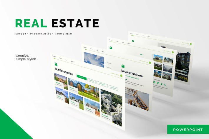 Thumbnail for Real Estate  - Powerpoint Template