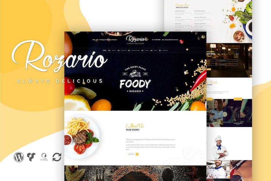 Rozario - Restaurant & Food WordPress Theme