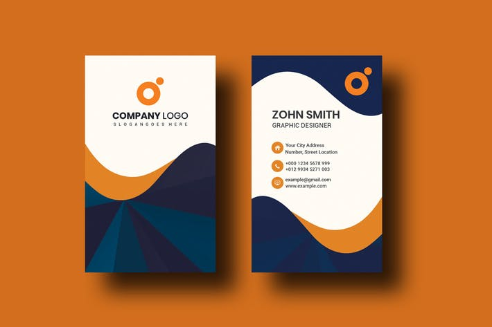 Corporate Portrait Business Card Template V-3
