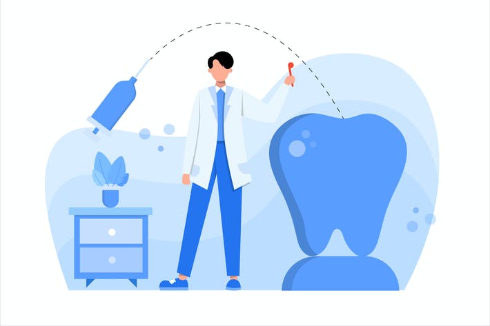 Thumbnail for Dentist Flat Vector Illustration