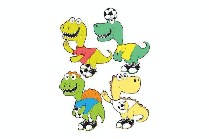 Thumbnail for niedlicher Dinosaurier-Vektor