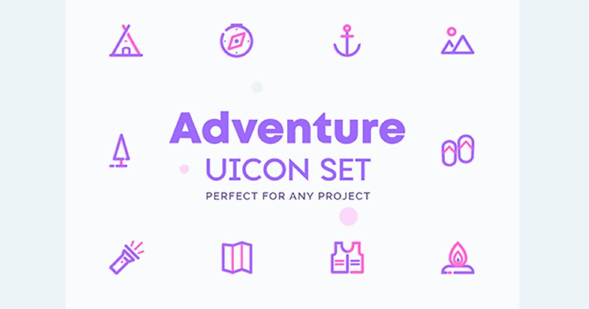 Download UICON - Adventure, Camping Icons Set by NEWFLIX
