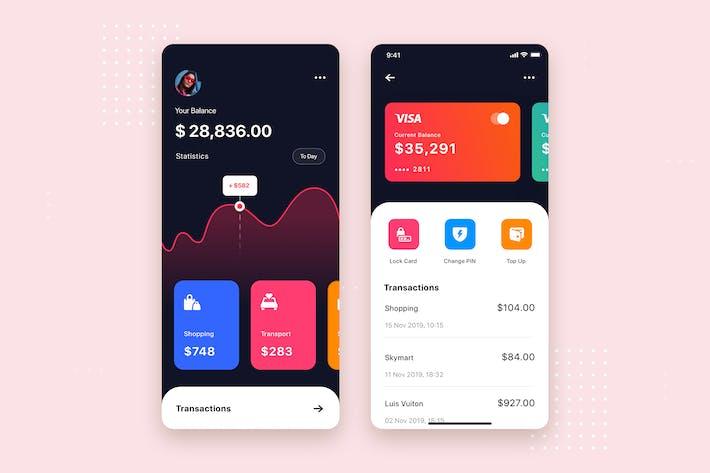 Thumbnail for Bank App UI Kit Template