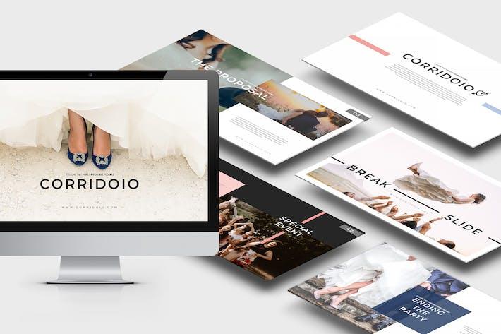 Thumbnail for Corridoio: Шаблон Powerpoint организатора свадеб