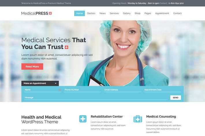 Thumbnail for MedicalPress - Health and Medical HTML Template
