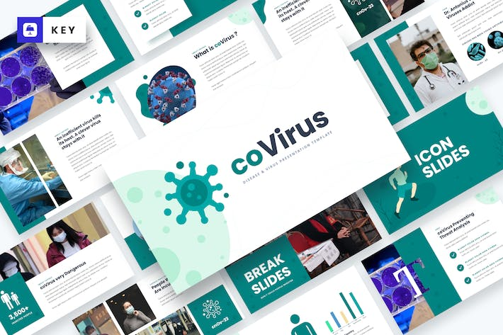 Thumbnail for Covirus - Disease & Virus Keynote Template