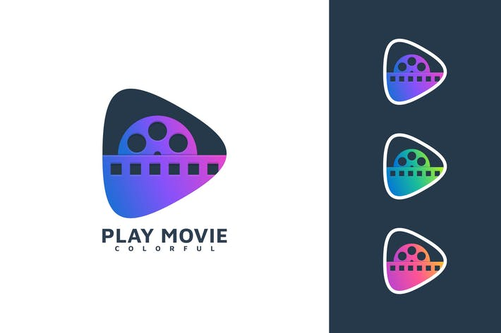 Thumbnail for PLAY MOVIE COLORFUL LOGO TEMPLATE