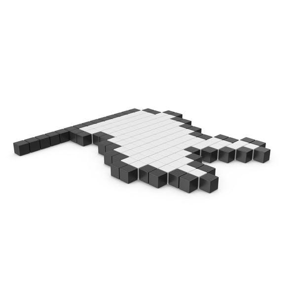 Pixelated White Flag Icon