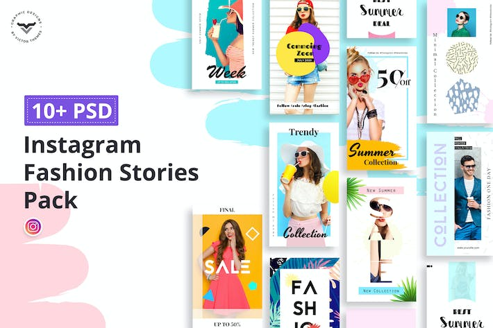 Cover Image For Instagram Fashion Stories Pack