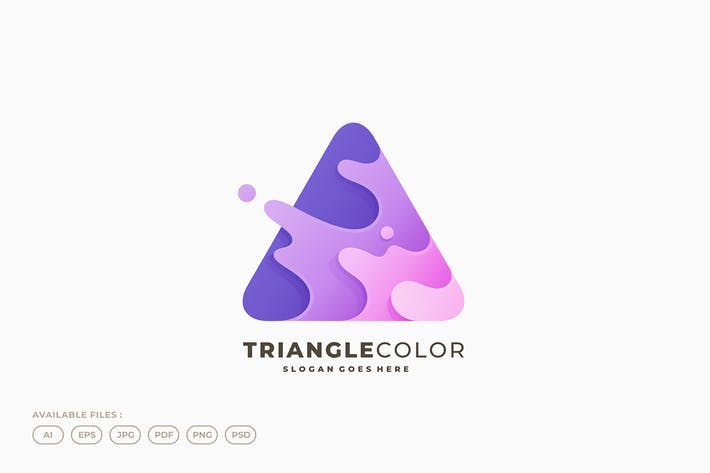 Thumbnail for Triangle Splash Liquid Water Dynamic Color Logo
