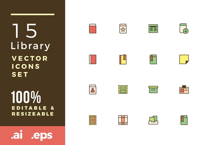 Thumbnail for 15 Library vector icons