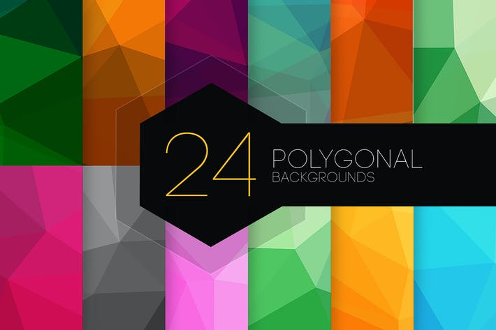 Thumbnail for 24 Polygonal Backgrounds