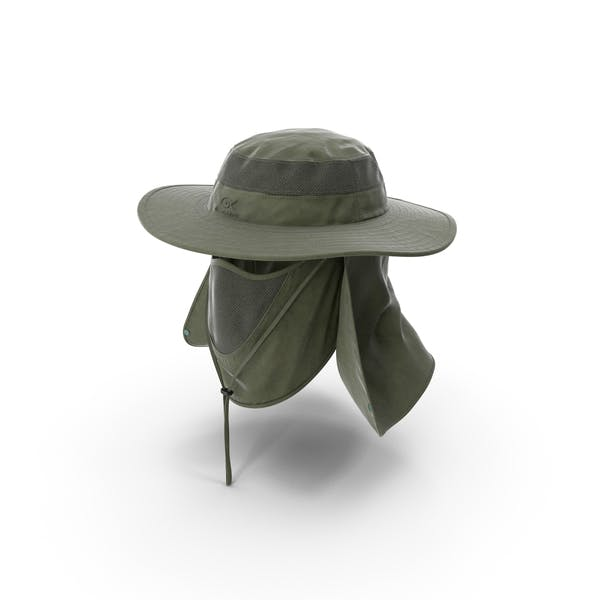 Outdoor Fishing Hat with Removable Neck Flap and Face Cover Mask