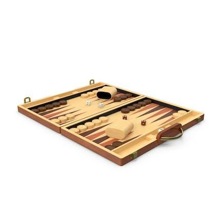 Backgammon de madera vintage
