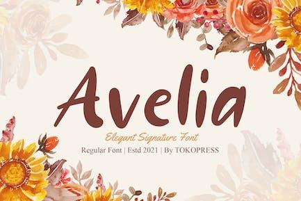 Avelia - Девичий почерк шрифт