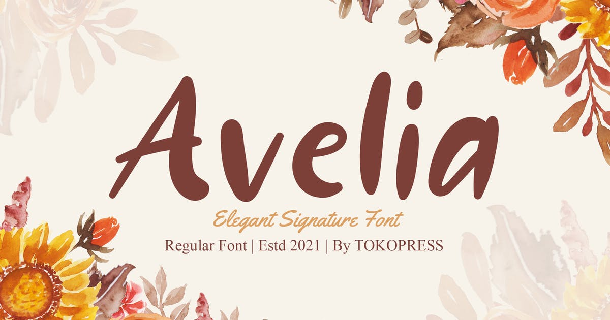 Download Avelia - Girly handwriting font by tokopress