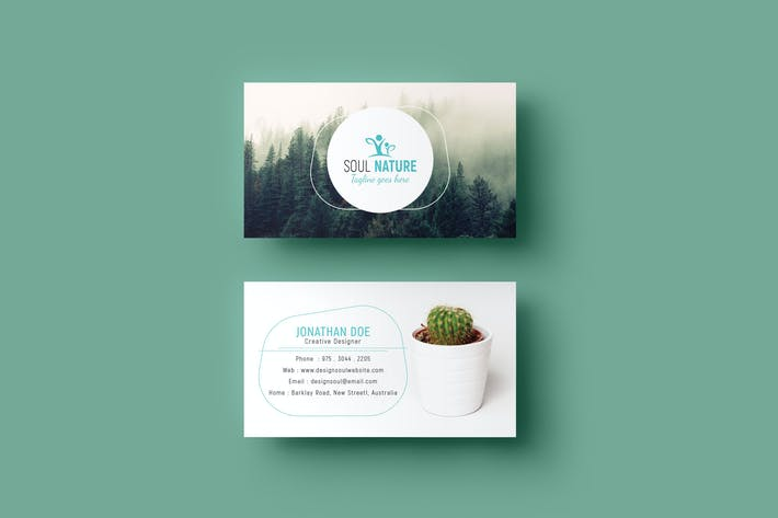 Cover Image For Nature Business Card