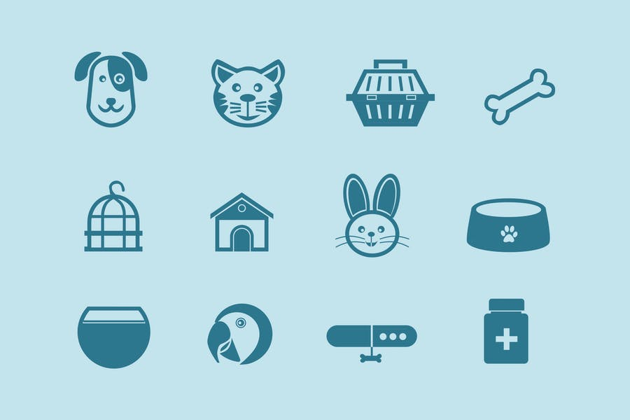 12 Pet and Animal Icons