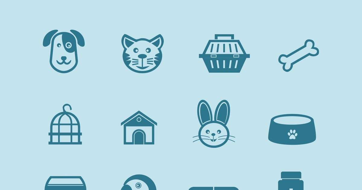 Download 12 Pet and Animal Icons by creativevip