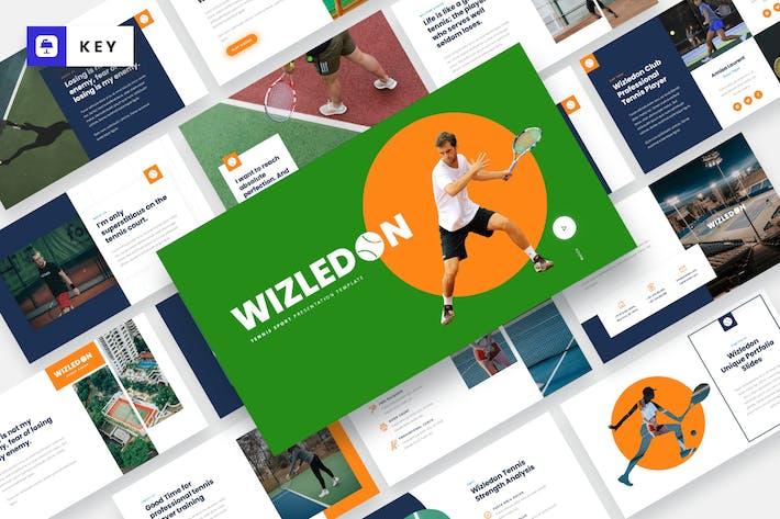 Thumbnail for WIZLEDON - Tennis Sport Keynote Template