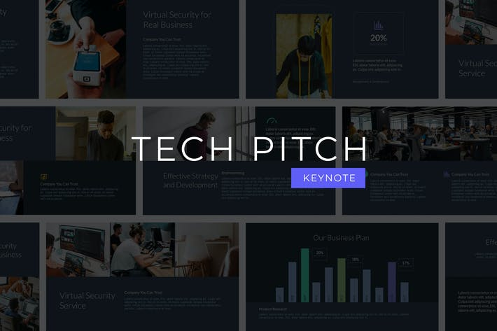 Thumbnail for Tech Pitch - Keynote Template