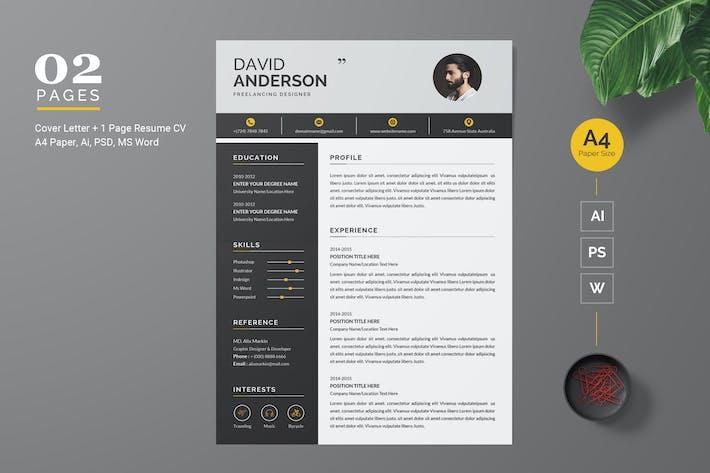 Thumbnail for Modern Resume / CV Template