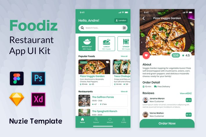 Thumbnail for Nuzie - Food App Template