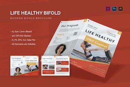 Leben Gesunde Whit Übung - Bifold Broschüre