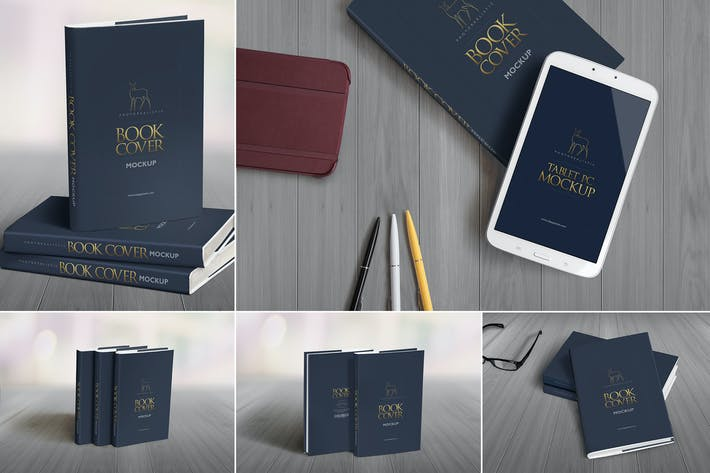 Thumbnail for Hard Book Mockups