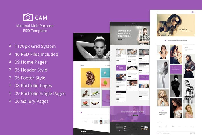 Thumbnail for CAM | Minimal MultiPurpose PSD Template