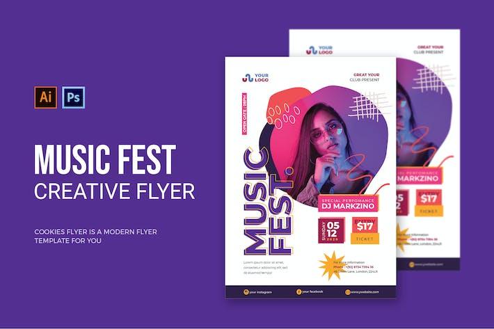 Thumbnail for Music Fest - Flyer
