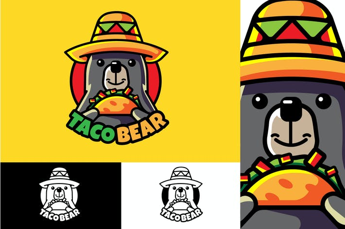Thumbnail for TACO BEAR - Mascot & Esport Logo