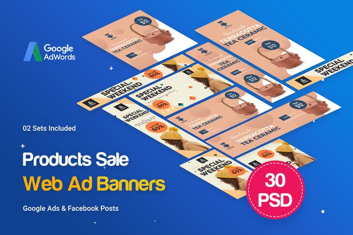 Thumbnail for Product Banners Ad - 30 PSD [02 Sets]
