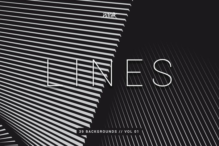 Thumbnail for Lines | Abstract Stripes Backgrounds | Vol. 01