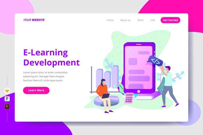 Thumbnail for E-Learning Development - Landing Page