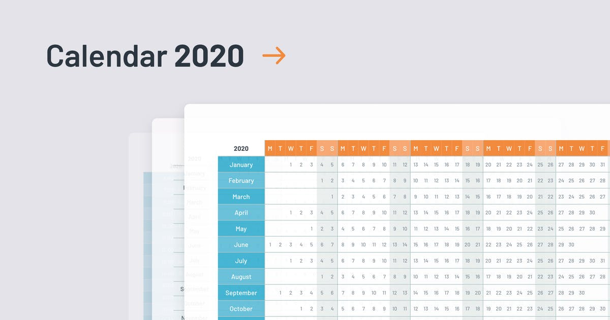 Download 2020 Calendar template PowerPoint by Site2max