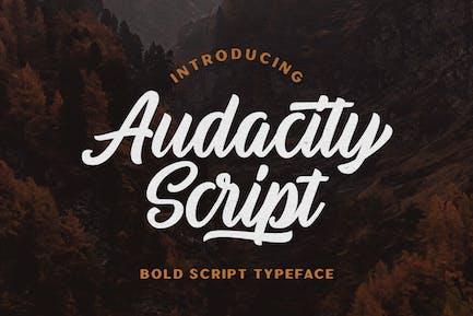 Audacity Script - Adventure Typeface