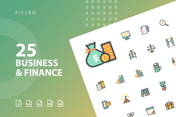 Thumbnail for Business & Finance Filled